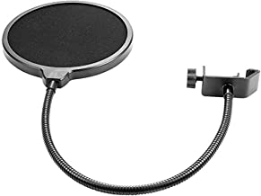 MUXItrade Microphone Pop Filter Swivel with Double Layer Sound Shield Guard Wind Screen Popfilter for Blue Yeti and Other Recording Studio Mic