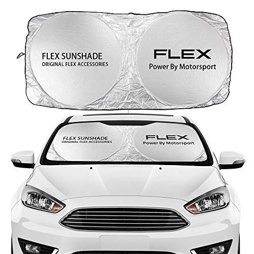 NXCY01 Parabrisas de Coches Cubierta de sombrilla para Ford C-MAX Expedition Fiesta Fino Flex Galaxy GT KA Puma Ranger S-MAX Transit Auto Accesorios Parasoles de Parabrisas (Color : For Flex)