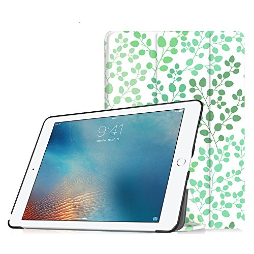 Fintie iPad Pro 9.7 Case - Super Thin Lightweight SlimShell Standing Cover with Auto Wake/Sleep Feature for Apple iPad Pro 9.7 inch (2016 Version), Leaf Breeze