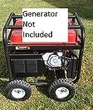 Predator 9000 8750 6500 WATT Generator Wheel KIT Fits Older and Newer Models Improved Mounting Plates.