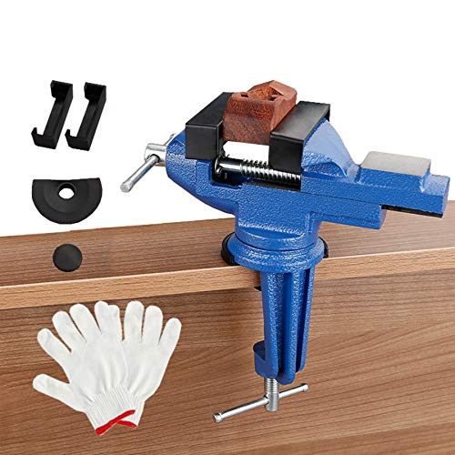 Multifunctional 360° rotating bench vice, portable bench vice table vice, used for hobby jewelry DIY craft repair tools