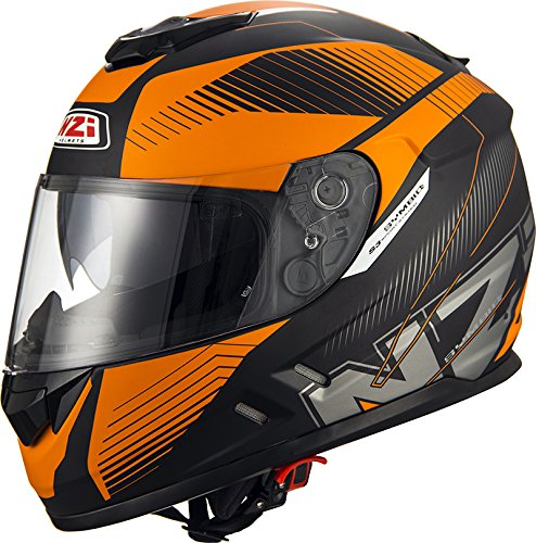 NZI Cascos Integrales, Indy Black Orange, Talla S