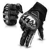 Guanti da Moto, Touchscreen Guanti Moto Estivi per Uomo Donna Hard Knuckle Protettivo Traspiranti per Motocicletta Scooter