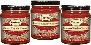 Zesteez Premium Tomato Chunky Chutney, 9 oz Each, 3 Count