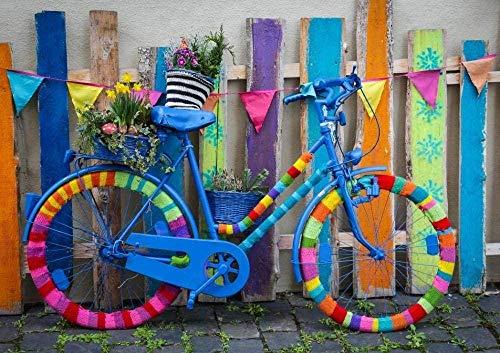 symzl Legpuzzels voor volwassenen 1000 stuk, Home Decors Decompressie Houten puzzel, Kinderen Geweldig educatief cadeau - Mijn mooie kleurrijke fiets