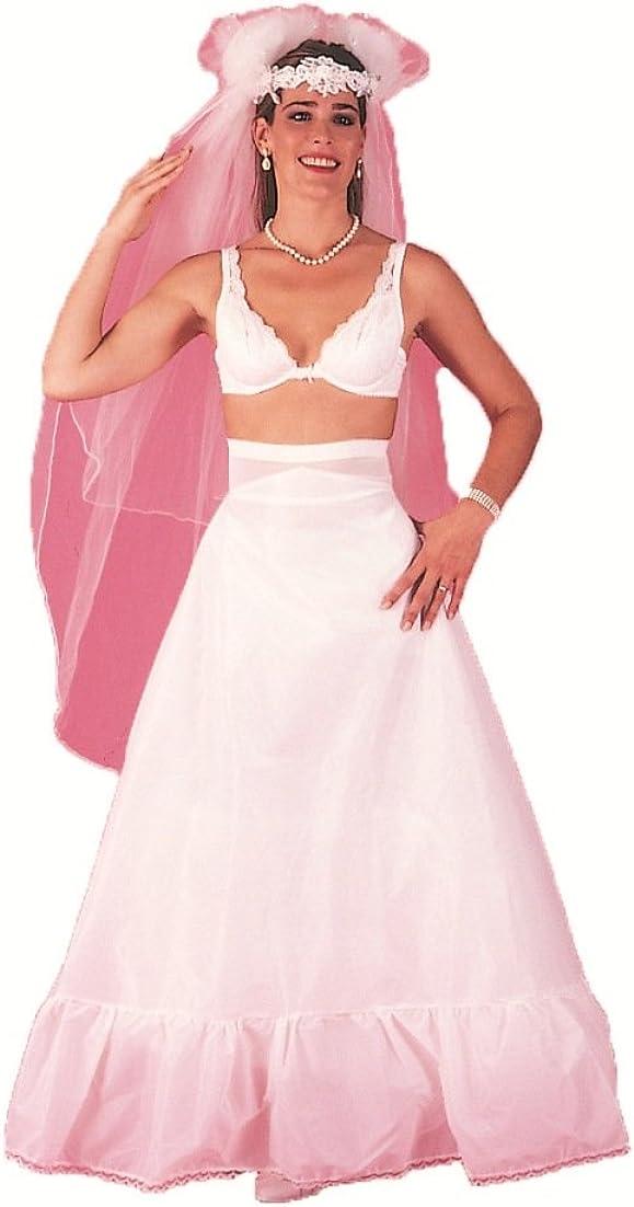 A-line Medium Full Wedding Gown Dress Crinoline Skirt Slip with Spandex Waist (102F)