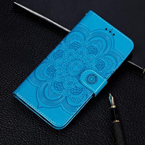 Dmtrab Phone Case for Xiaomi Redmi K20 / K20PRO / MI9 T / MI9 T Funda de billetera, Patrón de estampado de mandala, Funda de cuero con flip horizontal con soporte y ranuras para tarjetas y Frame & Lan