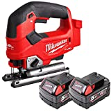 Milwaukee M18FJS 18V Fuel Cordless Jigsaw with 2 x 5Ah Batteries