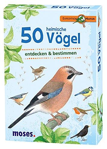 moses. Expedition Natur - 50 heimische Vögel | Bestimmungskarten im Set | Mit spannenden Quizfragen