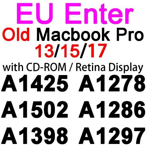 Funda de teclado de silicona para MacBook Pro 13 15 16 17 Retina Touch Air 13 12 11 Transparente TPU transparente UE US A2179 A2289 2020 Film-EU Old Pro 13 15 17