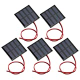Exliy Mini Panel Solar, 5 Piezas de Kits de Sistema Solar de células de Bricolaje, Cargador de células de epoxi Solar de polisilicio DIY, para Cargadores solares de teléfonos móviles