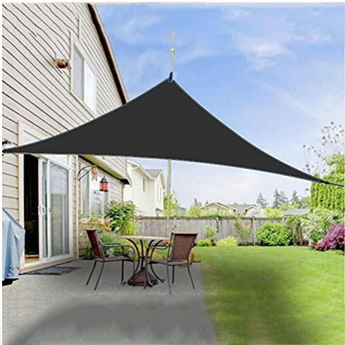 WQY Toldo Vela, 300D Negro Impermeable Oxford Jardín Toldo Sombrilla Lona Triángulo Rectángulo Toldo Anti-Ultravioleta Acampar Al Aire Libre Gazebo Toldo,4 * 4 * 5.7m