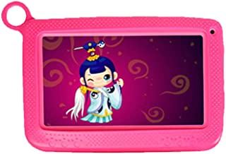 Uonlytech 7 inch Educational Tablet PC HD Android Dual Camera WiFi Quad Core for Kids (Pink)