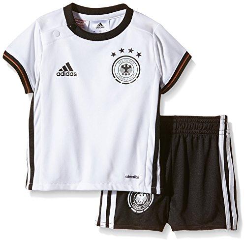 adidas Kinder Trikot UEFA EURO 2016 DFB Baby-Heimausrüstung Mini, White/Black, 80