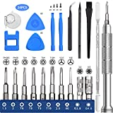 EasyTime Repair Tool Kit Compatible for PS4, Nintendo, Xbox one, 24 in 1 Triwing Screwdriver kit, T6 T8 T9 T10 Torx Gamebit Compatible for Switch Lite, Joycon, NES, SNES, GBA, 3ds, Gamecube, N64