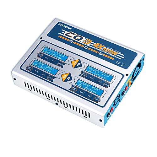 AC/DC 100Wx4/10Ax4 Quad Balance Charger Discharger Multi-Function 4 Independent Outputs Intelligent Charger for LiPo LiIon LiHV Life NiMH NiCd Batteries