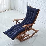 Cojines gruesos para tumbonas, cojines gruesos de 8 cm para silla mecedora de jardín, cojines de asiento para silla de interior y exterior para muebles reclinables (120 x 50 cm, azul oscuro)