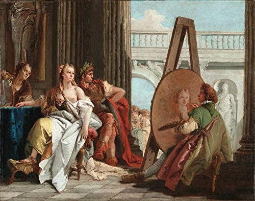 "Giovanni Battista Tiepolo Alexander The Great and Campaspe in The Studio of Apelles 1740 J. Paul Getty Museum Los Angeles 24"" x 19"" Fine Art Giclee Canvas Print (Unframed) Reproduction"