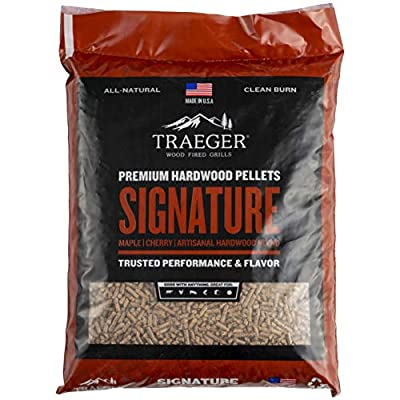 Traeger Grills PEL331 Signature Blend 100% All-Natural Hardwood Pellets - Grill, Smoke, Bake, Roast, Braise, and BBQ (20 lb. Bag)