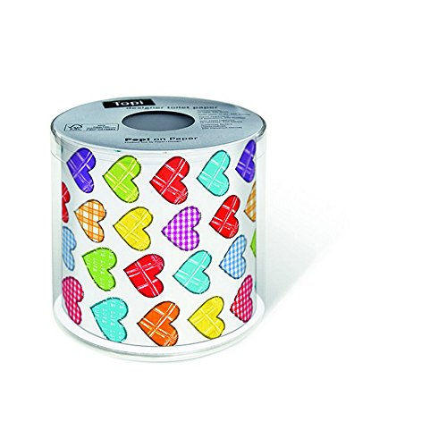 PAPER+DESIGN Toilettenpapier FSC Mix 200 Bl.Colourful hearts