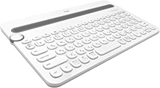 ロジクール ワイヤレスキーボード K480WH Bluetooth キーボード ワイヤレス 無線 Windows Mac iOS Android Chrome K480 ホワイト 国内正規品 2年間無償保証