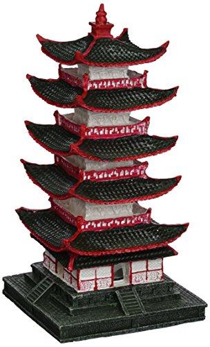 Aqua Della Chino Pagoda Acuario Decoración, 10x 10x 19,5cm
