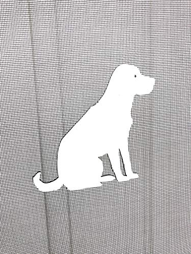 DCentral Labrador Dog Flexible Screen Magnet: Double-Sided Decor; for Non-Retractable Screens, Multipurpose, Helps to Stop Walking into Screens, Covers Small tears in Screens. Size 5.5