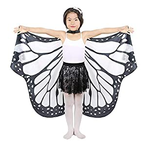 UWOOD Dance Fairy Belly Dance Papillon Ange Ailes d'Isis avec bâtons télescopiques