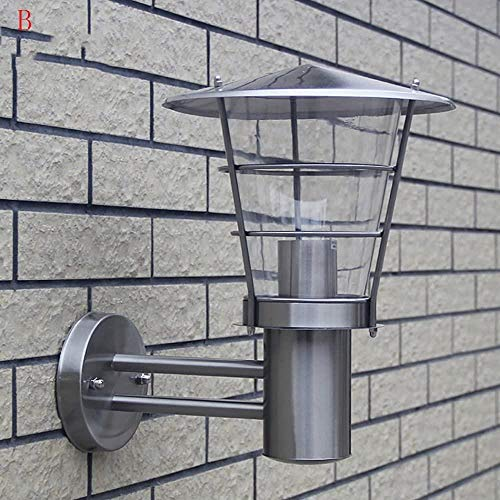 SimLIe en stijlvol Balkon RVS Open Yard Buitenmuur high-end Binnen- Props wandlamp (Kleur: B), Kleur: B (Color : B)