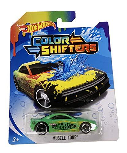 HW Color Shifters Muscle Tone Vehículo Fundido a presión Multicolor Escala 1/64