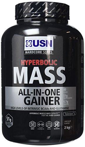 USN Hyperbolic Mass All-In-One Gainer Shake Powder, Chocolate, 2 kg
