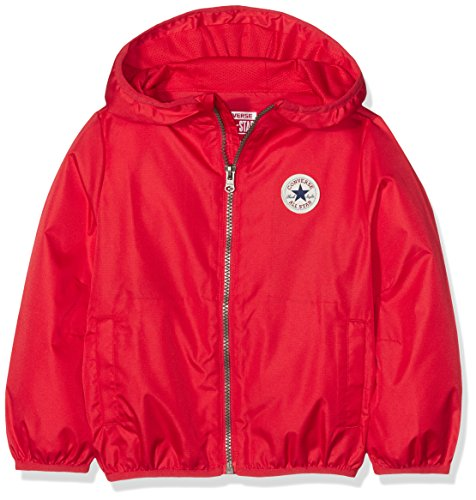 Converse Jungen Packable Full Zip Jacket Pullover, Rot (Red 029), 2-3 Jahre