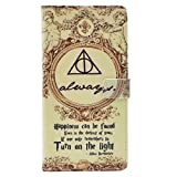 TPACC iPhone XR Case - Hallows Always Magic Quote Pattern Leather Wallet Case Stand Cover with Card Slots for Apple iPhone XR 6.1''