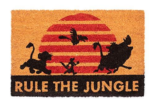 """ERIK - Felpudo entrada casa El Rey Léon """"RULE THE JUNGLE"""", Disney (40 x 60 cm)"""