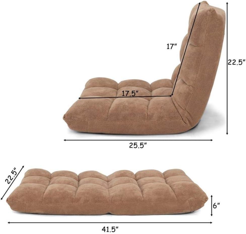 QPB Chaise de Sol rembourrée réglable Salon Chaise de Loisirs Chaise deSol ChaiseLongue, café Purple