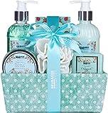 BRUBAKER Cosmetics Set de Baño y Ducha'Chamomile fresh Cotton' Cuidado hidratante Manzanilla - Set de regalo 7 piezas en caja decorativa