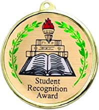Student Recognition Award Medal comes with Neck Ribbon - Pack of 10