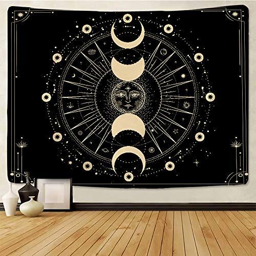 Sun Moon Tapestry Wall Hanging Mandala Boho Printed Wall Cloth Tapestries-150x100cm