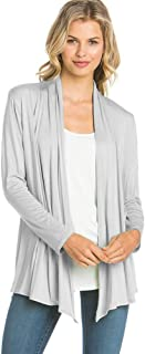 12 Ami Basic Long Sleeve Open Front Cardigan (S-XXXL) - Made in USA