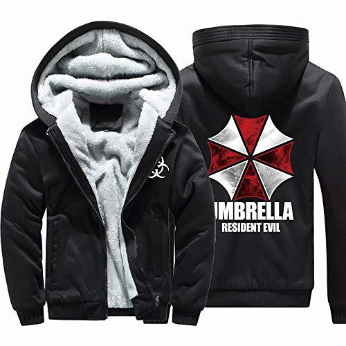 Unisex Hoodies- Resident Evil Stampa Casuale Invernale con Cappuccio Giacche Calde con Zip A Maniche Lunghe Felpa 1-XXXXL