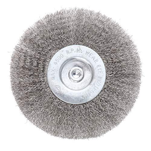 Bohrmaschine Rundbürste Drahtbürste aus Edelstahl - 100 mm 0,15 mm