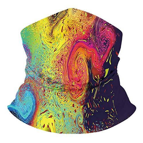 Realde Herren Damen Bandana Schal Schlauchschal Freizeit 3D Farbdruck Bindetuch Sonnenschutz Staubdicht Mundschutz Halstuch Sport Outdoor Laufen Halstuch für Unisex