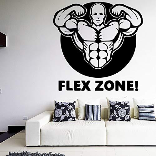 BJWQTY Mens Muscle Decals Flexible Zone Design Wandaufkleber Abnehmbares Wandbild für Fitnessstudio Wohnzimmer Wasserdichtes Sportdekor