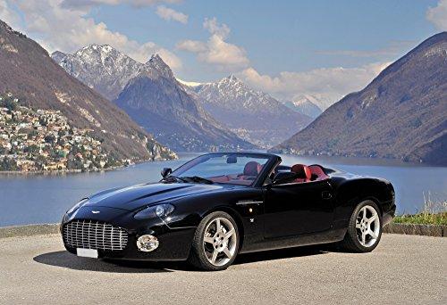 "Aston Martin DB AR1 Zagato (2003) Car Print on 10 Mil Archival Satin Paper Black Front Side Static View 16""x20"""