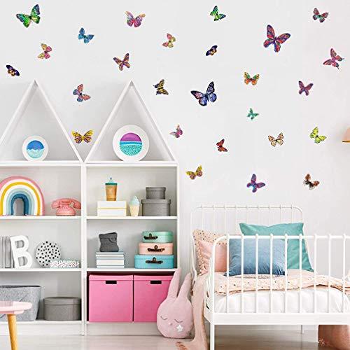 26 Pezzi Adesivi Murali Colorato Farfalle, Arte Adesivi da Parete Decorazione Murale, Adesivo Murale per Domestica Bambini Camera Da Letto Decorazione Casa