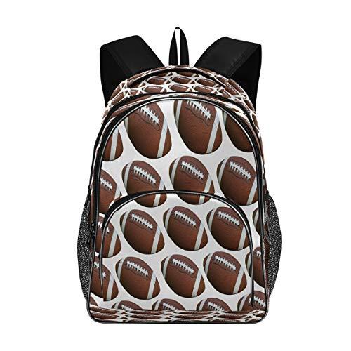 Laptop-Rucksäcke für Damen und Herren – American Footballs Isolierte große Schultasche passend für 43,2 cm Computer Büchertasche für Schule, Büro, Reisen, Strand