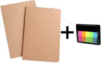Aminery Vintage Kraft Paper Notebook Car Line Book Softcopy Suture Book Student Notepad for School Season(Brown A, M)