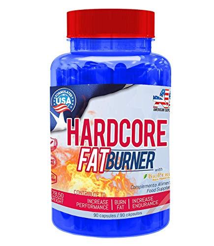 Quemador de grasa - Hardcore Fat Burner - American Suplement - 90...