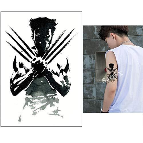 XiaoOu Tatuaje Temporal de Halloween Pegatinas Demon cráneoescuadrón Suicida Tatuaje Joker Negro Tatuaje Falso Impermeable 210 * 148 mm, R