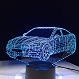 Auto Auto Form 3D Lampe 5 V USB 3AAA Batterie LED Nacht Lampe Acryl Kinder Lava Lampe 7 Farben Touch Tisch Licht schnell